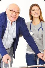 Nurse with her senior patient